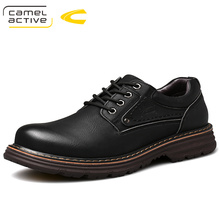 Camel Active New Mens Casual Shoes Genuine Leather Autumn Business Wedding Wild Retro Soft Scrub Split Leather Men Shoes