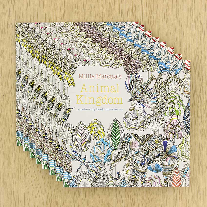 Animal Kingdom English Edition Coloring Book For Children Adult Relieve Stress Kill Time Painting Drawing Book 24 Pages