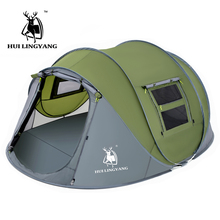 Large space 4 5 6 persons throw tent outdoor automatic tent pop up waterproof camping hiking