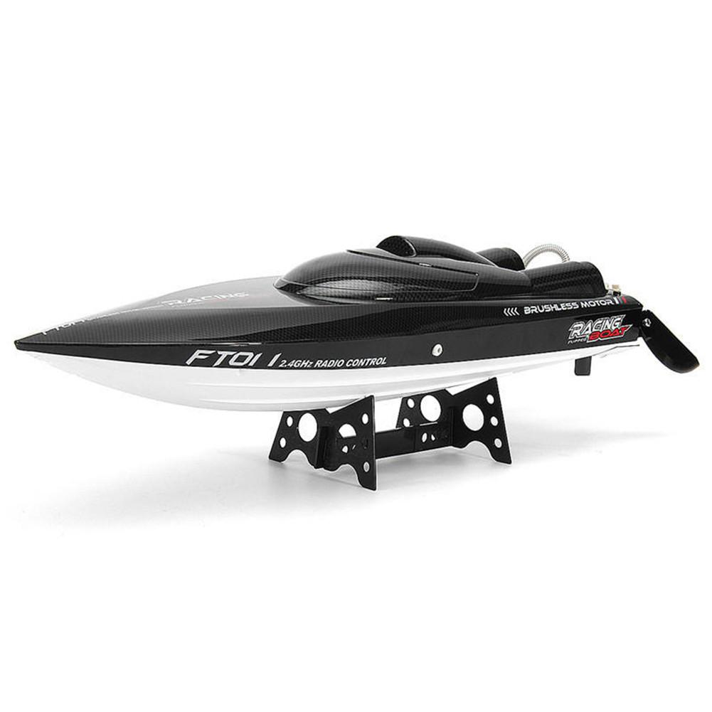 FT011 65cm 2.4G 2CH 55km/h High Speed Racing Boat Ship Speedboat With Water Cooling System Flipped Brushless Motor Model