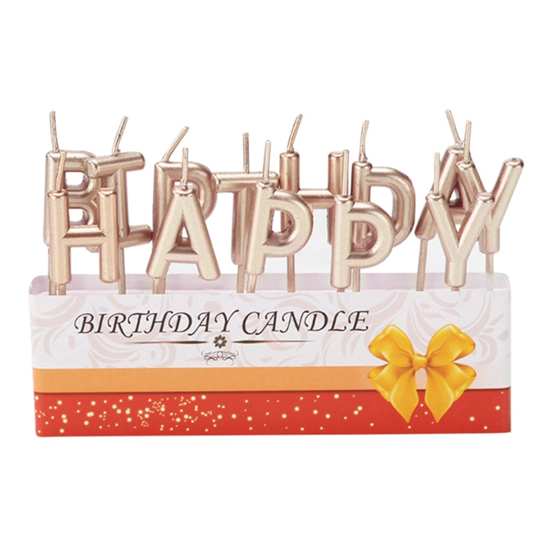 Happy Birthday Flameless  Letters Art Candle  Unique Household Party Cake Decoration Supplies