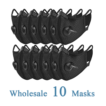 Wholesale 10 Pcs Protective Mask Outdoor Sports Activity Mask Breathing Valve Pm2.5 Filter Dust-Proof Anti-Bacterial Mask