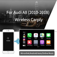 Bezprzewodowy Apple CarPlay dla Audi A8 2010-2018 z androidem Auto /Car play wsparcie Airplay/HDMI Display Multimedia Mirror(China)