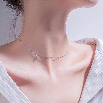 Collar de colgantes con abalorio de plata de ley 925, Gargantilla, Collar de declaración, Collar corto para mujer, joyería de boda, regalo dz810