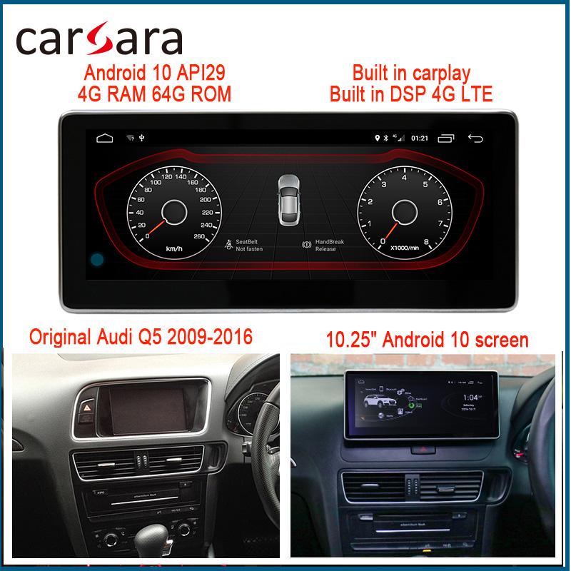 RHD Monitor Q5 Radio Upgrade <font><b>Android</b></font> Multifunctional Touch Screen <font><b>Car</b></font> <font><b>Audio</b></font> Video Entertainment Navigation System 4G RAM 64G ROM image