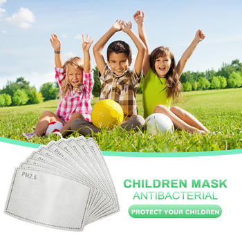 5 Layers PM2.5 Mask Filter Activated Carbon Filters Insert Protective Filter Pad Mouth Mask Gasket Masks For Kids Children Adult