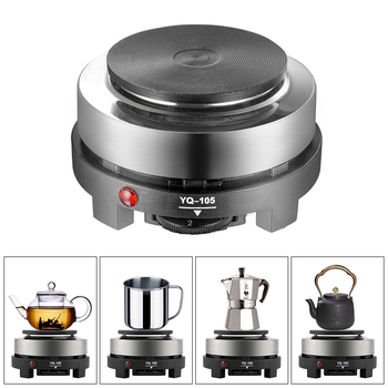 Multifunction Electric Mini Stove Hot Plate Electric Burner Cooking Coffee Tea Water Milk Heater Home Kitchen 220V 500W EU Plug mexi mini eu plug electric stove coffee heater plate 500w multifunctional home appliance kit