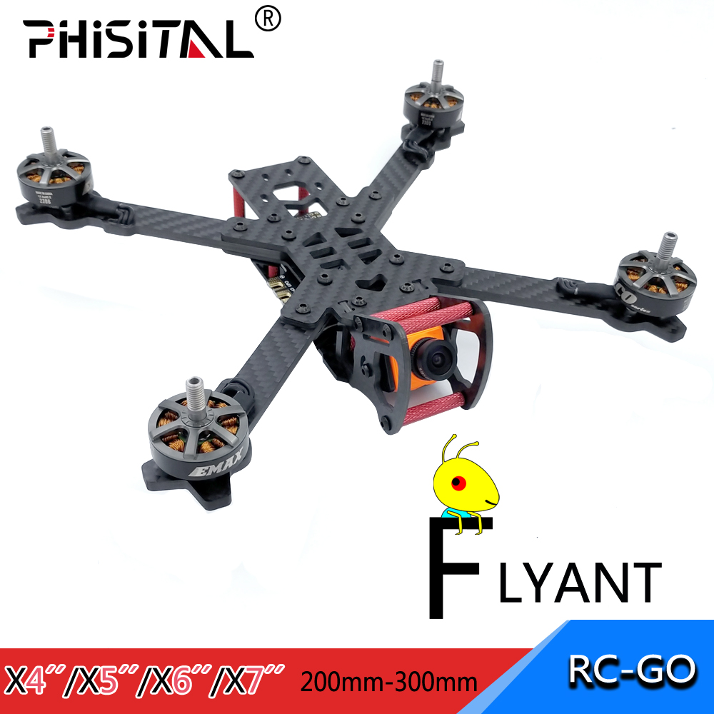 FPV rahmen drone carbon faser racer kit für RC drone modell racing quadcopter/PHISITAL Flyant 4 inch 5 zoll 6/7 zoll drone rahmen