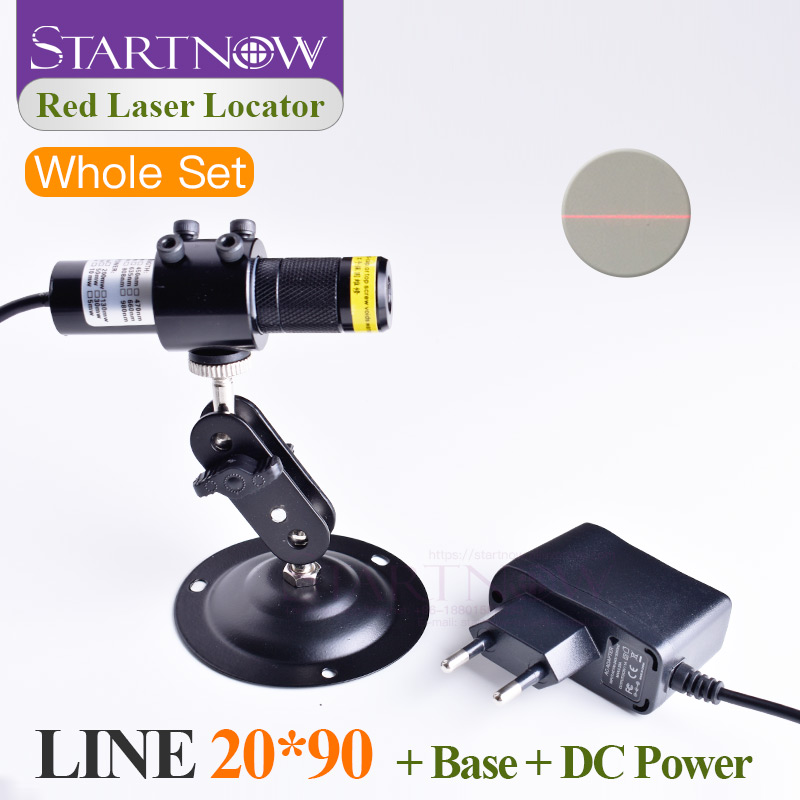 Set 20*90 660nm 100mw With Battery Case Red Module Alignment Laser Beam Line Locator For Woodworking Machine Light Positioning