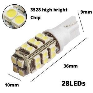 Image 3 - 2 uds. De luces interiores blancas, 25smd rojas y azules, bombilla LED 1210, 3528, bombilla Led para automóvil 921, 194, 168, luz Cob, luz Led de conducción diurna