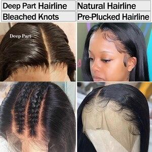 Gerade Spitze Vorne Perücke Bob Perücke 13 × 4 Spitze Front Menschliches Haar Perücken Pre Gezupft Brasilianische Perücke Remy Transparent spitze Perücke Menschliches Haar