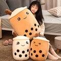 Симпатичная мягкая плюшевая подушка в виде пузырчатого чая, подушка, забавные мультяшные плюшевые игрушки Boba, детские игрушки с молочным ча...