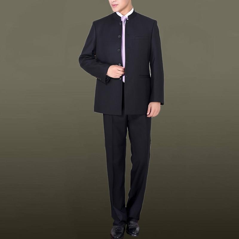 wedding : Brand Men Suits Big size Chinese Mandarin Collar Male Suit Slim Fit Blazer Wedding Terno Tuxedo 2 Pieces Jacket  amp  Pant