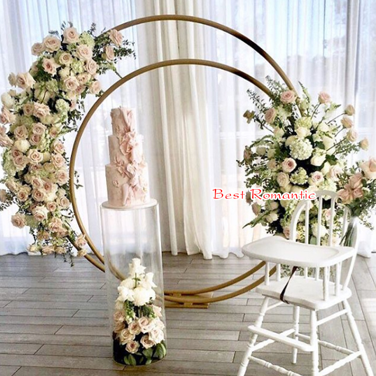 2 pçs/lote novo design casamento mesa arco com braços duplos peça central para mariage festa evento decoração do casamento