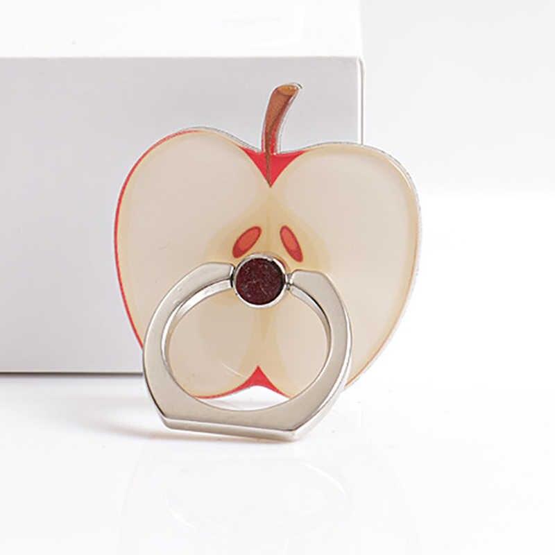אופנה טלפון סטנדר נגד גניבה 360 מסתובב פירות בצורת חמוד הר עבור iPhone 11 8 7 6/Tablet טלפון מחזיק אצבע טבעת Stand