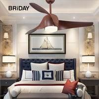 52 inch Retro Ceiling fan Fans With Lights Remote Control Inverter DC 110V 220V Bedroom decor Light ventilator Lamp Vintage led
