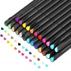 Fine point bullet pen 0.4mm kolor końcówka igłowa niezwykle cienki kolor hook line pen do rysowania pisanie kolorowanki art mark