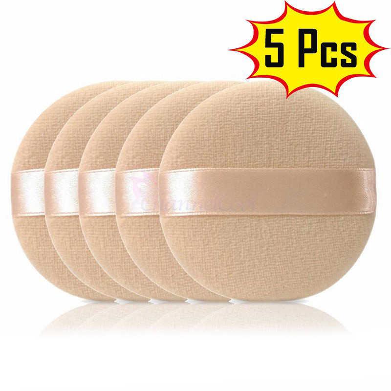 高品質 5 個ラウンドスポンジ綿パッド BB クリームパフスポンジ化粧パフドライパウダーメークアップパフ