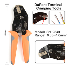SN-2549 crimping pliers 0.08-1mm² 28-18AWG XH2.54/PH2.0/2510 SM plug tab terminals Includes features of the SN-28B and SN-01BM