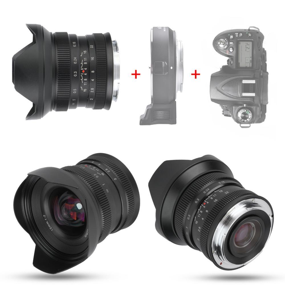 Image 5 - 12mm f2.0 Mirrorless Camera Lens Manual Focus Super Wide angle Fixed Focus Lens for Canon EF M/Sony E/Fujifilm FX/M4/3 MountCamera Lens   -