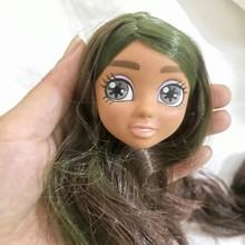 1 pieza cabeza de muñeca con accesorios para el cabello DIY para la casa de muñecas BJD para niñas el mejor regalo para el cabello niñas niños juguete