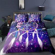 Star Pendant 3D printing bedding set high grade comfortable down duvet cover pillow case
