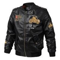 Motorcycle Jacket Men PU Leather Jacket Motocross Racing Moto Jacket Cycling Motorbike Protection Autumn Winter Moto Clothing