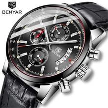BENYAR 2019 גברים של שעון עסקי Mens שעונים למעלה מותג יוקרה קוורץ שעונים Mens עמיד למים זכר שעוני יד Relogio Masculino