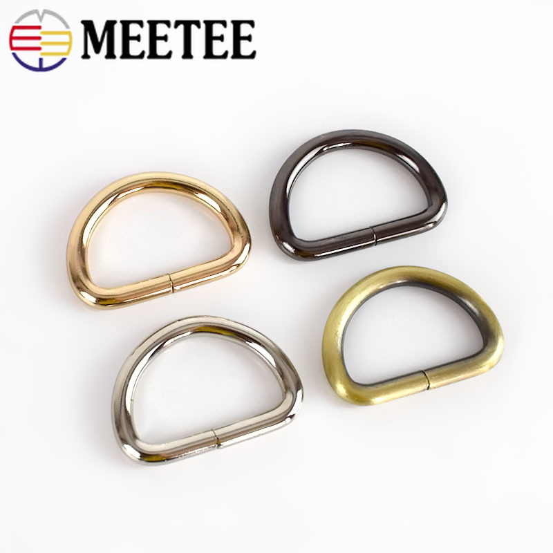 Meetee 5/10pcs 32mm Metal O D Ring Buckle Backpack Strap Hang DIY Luggage Hook Bag Hardware Decoration Accessories F4-6