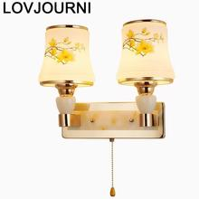 Deco Sconce Dressing Table Tete De Lit Mirror Crystal Applique Murale Luminaire Aplique Luz Pared Bedroom Wandlamp Wall Light