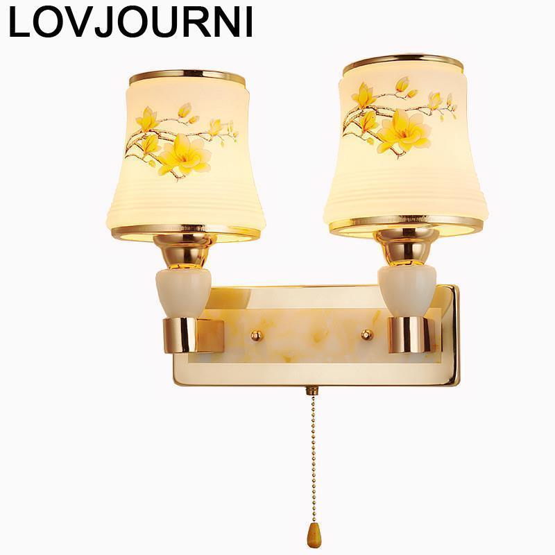 Penteadeira Coiffeuse Avec Miroir Wandlampen Crystal Luminaire Lampara De Interior Aplique Luz Pared Wandlamp Wall Light