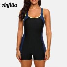 Sports Swimwear Bathing-Suits Colorblock Beach-Wear One-Piece Women Open-Back Fitness