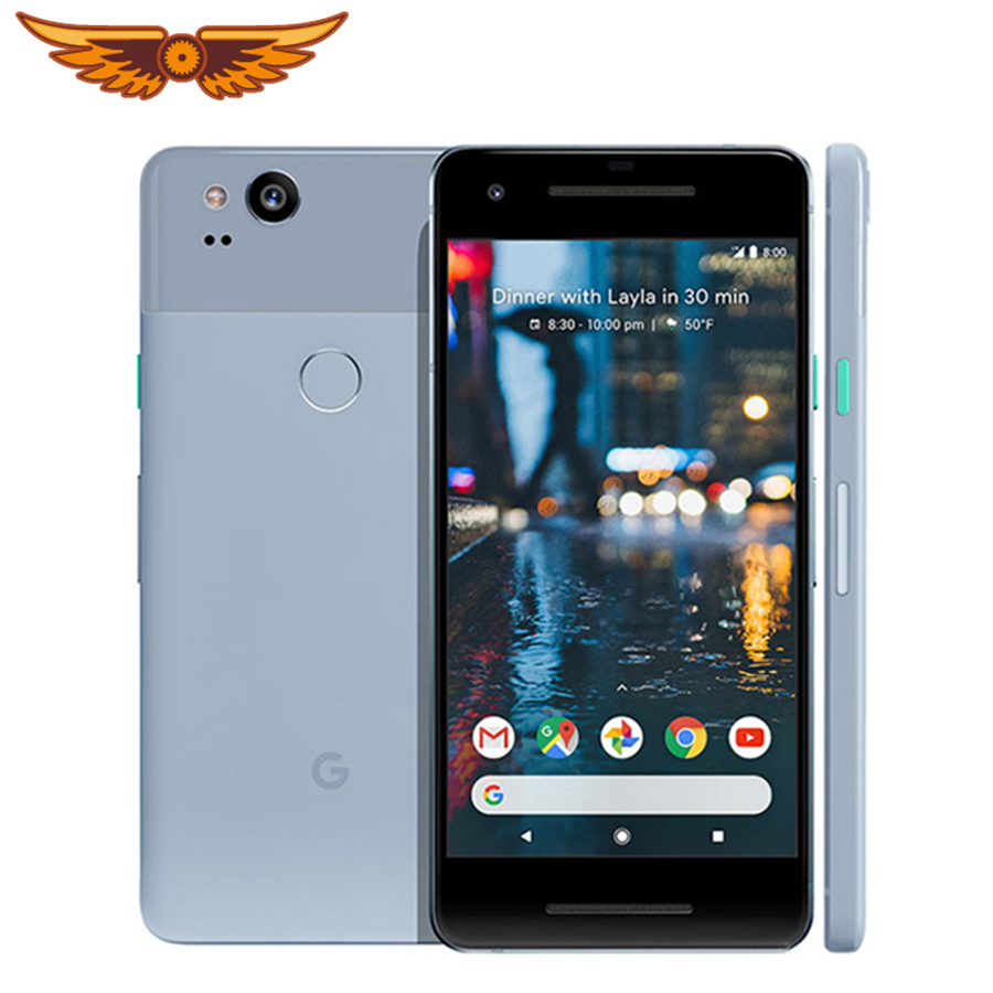 Google Pixel 2 Original 100% 5.0 Inches Octa Core 4GB RAM 64GB/128GB Snapdragon 835 Single SIM 12MP Android Unlocked Cellphone(China)