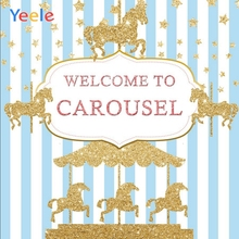 yeele vinyl wood board christmas tree snow photography background children birthday party photographic backdrop for photo studio Yeele Carousel Stripes Horse Baby Birthday Party Poster Photography Background Customized Photographic Backdrop for Photo Studio