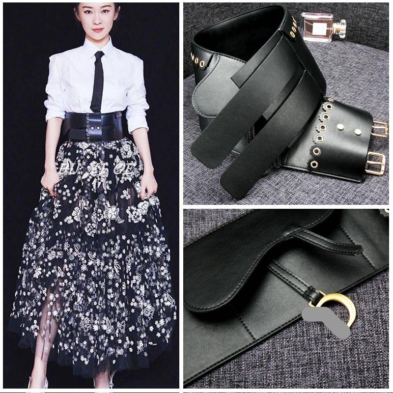 Women Waist Seal Fashion Sheepskin Genuine Leather Belt Women Strap Pure Color Casual Cummerbunds Belts Top Quality Jeans Belt