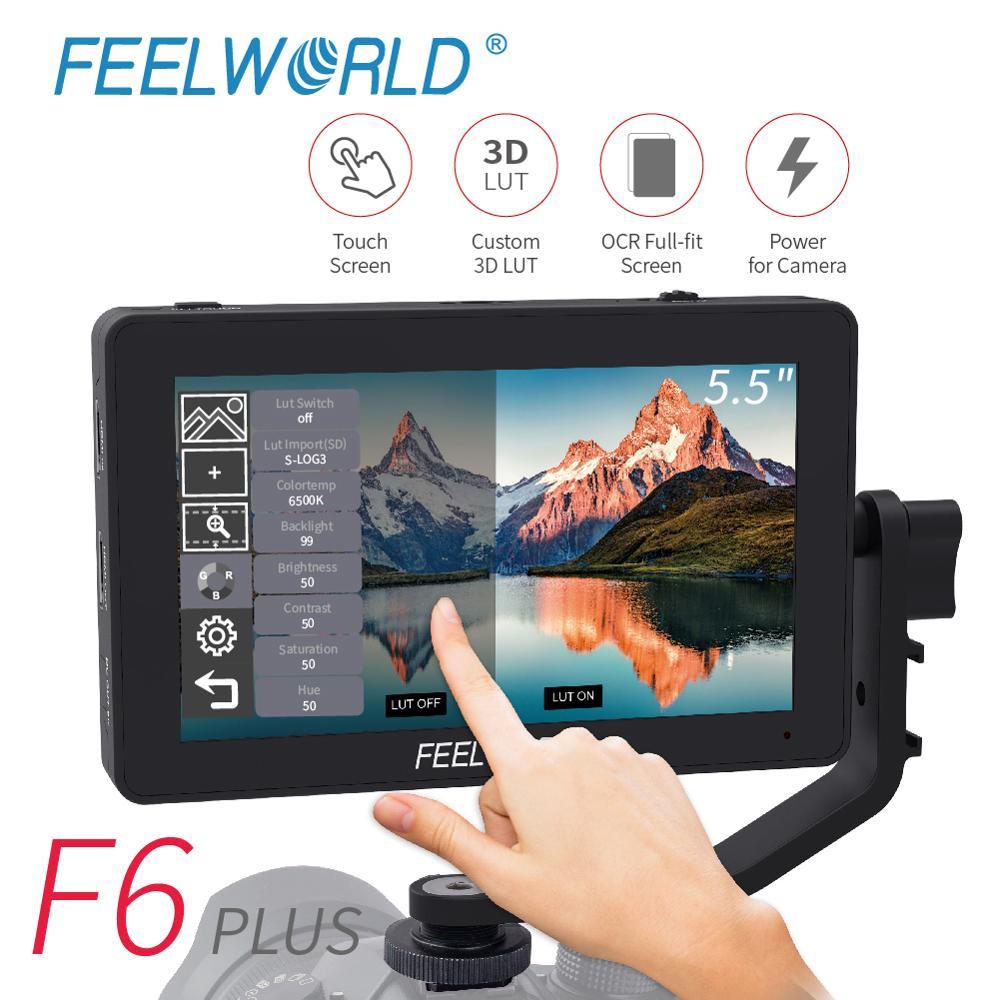 Feelworld F6 プラスモニター 5.5 インチのタッチスクリーンディレクター 4 モニターデジタル一眼レフカメラマイクロ単一のビデオフィールドの表示キヤノンニコン  グループ上の 家電製品 からの モニター の中 1