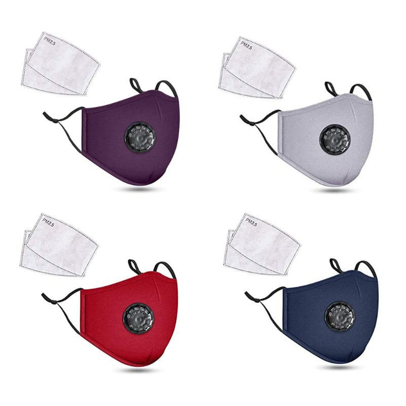 Face Mask With PM2.5 Filters Anti-smog PM2.5 Washable Reusable Face Masks For Riding Kids Use