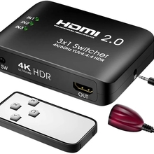 Switcher Blue-Ray-Player PS4 Xbox-One HDMI for 3-In-1 HDCP HDTV HDR Out-Supports 60hz