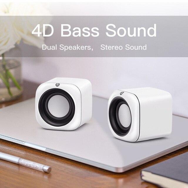 Computer Speaker A1 Deep Bass Sound Loudspeaker USB Mini Audio Speakers For Laptop Notebook Desktop PC Multimedia Loudspeakers 2