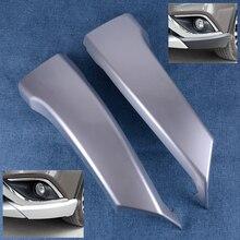 CITALL Auto Silver ABS Front Lower Bumper Side Grill Lip Corner Guard Trim Cover fit for Mitsubishi Outlander 2016 2017 2018