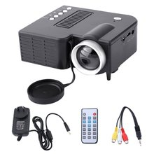 UC28A Mini Portable LED Projector 1080P Multimedia Home Cinema Theater USB TF HD