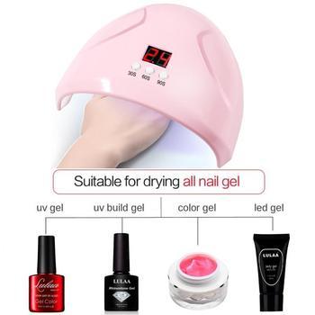 цена на 36W High Power LED Nail Lamp 7Color Professional UV Nail Gel Dryer Lamp Intelligent Induction USB Interface Nail Care Tool