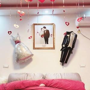 Image 4 - Cartel recién nacido Mr. Mrs Rustic Garland Decoración de mesa de boda novio novia a ser globo pancarta de soltera suministros para fiesta