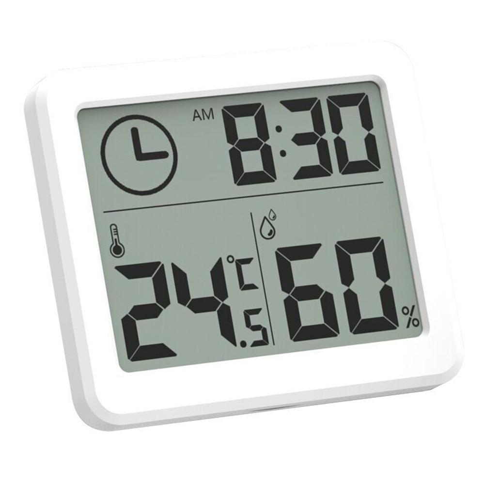 Ultra-thin Thermometer Hygrometer Electronic Digital Clock Temperature and Humidity Monitor Clock for Kitchen Bathroom 30E