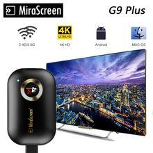 4K ТВ палку Р9 плюс 2.4 Г/5 г беспроводной технологии Miracast DLNA и AirPlay и HDMI Mirascreen дисплей с Chromecast 3 зеркало приемник WiFi ТВ донгла
