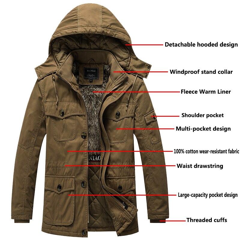 Мужская куртка с хлопковой подкладкой, зимняя парка с несколькими карманами, флисовая ветровка с капюшоном, теплая флисовая парка, толстая Меховая зимняя куртка, размеры от 2 до 8 лет|Парки| | АлиЭкспресс