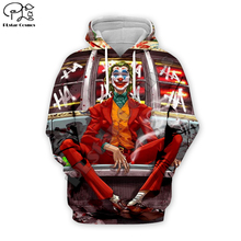 PLstar Cosmos Hot movie Joker Joaquin Phoenix Colorful Harajuku Tracksuit 3D Print Hoodie/Sweatshirt/Jacket/shirts Men Women s-7