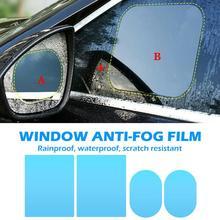 2/4pcs Clear Car Rearview Mirror Protective Films Window Scratch proof Multifunctional Waterproof Anti Fog Rainproof Films