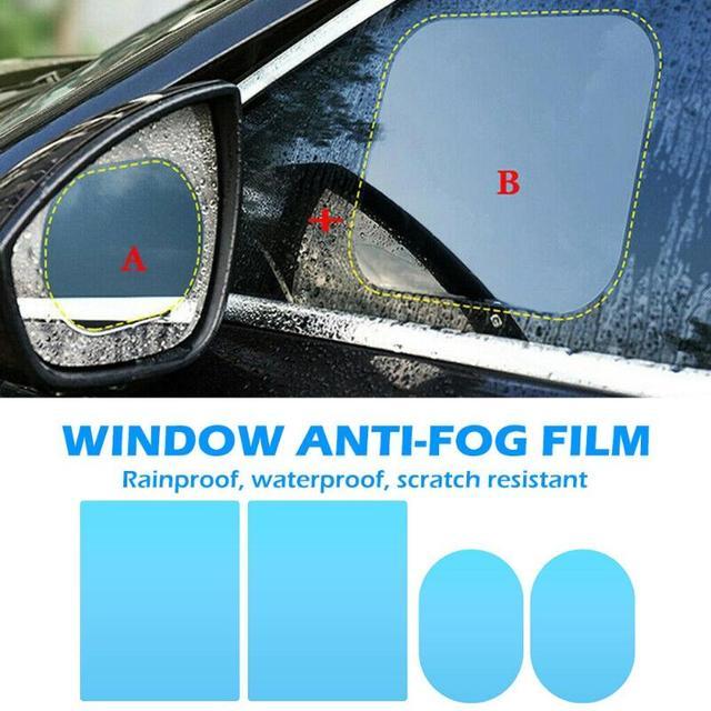 2/4pcs נקה רכב Rearview מראה מגן סרטי חלון שריטה הוכחה רב תכליתי עמיד למים אנטי ערפל אטים לגשם סרטים