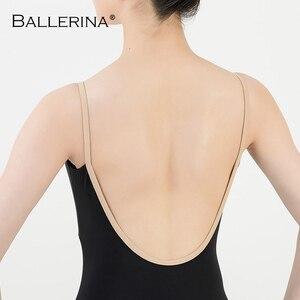 Image 5 - Ballet práctica leotardo mujeres danza traje Sling danza negro leotardo adultos niñas gimnasia leotardo bailarina 5040